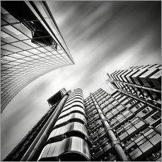 Selvklæbende plakat Lloyds London | 01 (black/white)