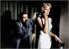 Selvklæbende plakat  Dial M for Murder, from left: Anthony Dawson, Grace Kelly in 1954