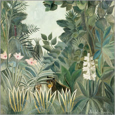 Selvklæbende plakat  The Equatorial Jungle - Henri Rousseau