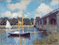 Print på skumplade  Bridge at Argenteuil - Claude Monet