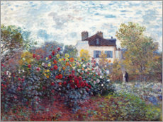 Lærredsbillede  The Artist's Garden in Argenteuil - Claude Monet