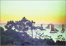 Selvklæbende plakat  The Pointe de la Galere - Henri Edmond Cross