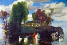 Selvklæbende plakat  Island of the living - Arnold Böcklin