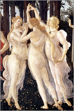 Selvklæbende plakat  The Three Graces - Sandro Botticelli