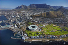 Selvklæbende plakat  Cape Town Stadium and Table Mountain - David Wall