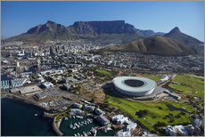Galleritryk  Cape Town Stadium and Table Mountain - David Wall