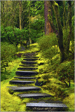 Galleritryk  Stairs in the Japanese garden - Michel Hersen