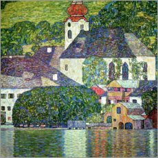Lærredsbillede  Church in Unterach, Attersee - Gustav Klimt