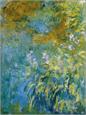 Lærredsbillede  Yellow Iris - Claude Monet