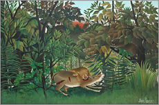 Galleritryk  The hungry lion - Henri Rousseau
