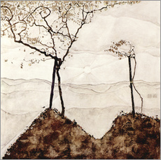 Galleritryk  Autumn sun and trees - Egon Schiele