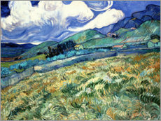 Premium-plakat  Mountain landscape behind the Hospital Saint-Paul - Vincent van Gogh