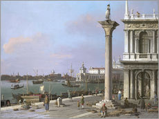 Print på træ  Bacino di S. Marco- From the Piazzetta - Antonio Canaletto