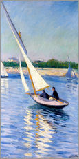 Galleritryk  Sailboat on the Seine at Argenteuil - Gustave Caillebotte