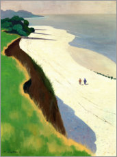 Akrylbillede  The Cliff and the White Shore - Felix Edouard Vallotton