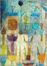 Selvklæbende plakat  Plants early in the morning - Paul Klee