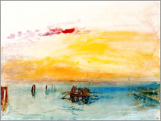 Akrylbillede  Venice, seen by Fusina - Joseph Mallord William Turner