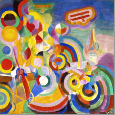 Akrylbillede  Homage to Blériot - Robert Delaunay
