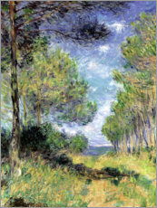Akrylbillede  Pine Tree Path At Varengeville - Claude Monet