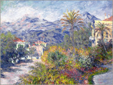 Akrylbillede  Strada Romana in Bordighera - Claude Monet