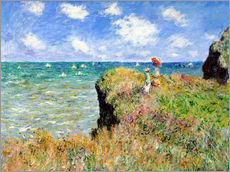 Galleritryk  The Cliff Walk at Pourville - Claude Monet