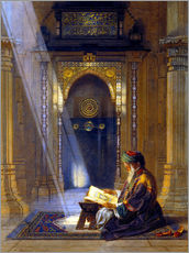 Selvklæbende plakat  In the Mosque - Carl Friedrich Heinrich Werner