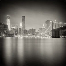 Galleritryk  New York Skyline at Night (Analogue Photography) - Alexander Voss