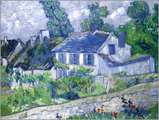 Akrylbillede  Houses in Auvers - Vincent van Gogh