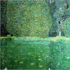 Lærredsbillede  Pond of Schloss Kammer on Attersee - Gustav Klimt