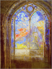 Galleritryk  Church window - Odilon Redon