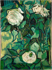 Galleritryk  Roses and Beetle - Vincent van Gogh