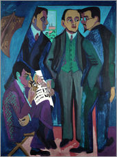 Selvklæbende plakat  An Artists' Community (The Painters of Die Bruecke) - Ernst Ludwig Kirchner