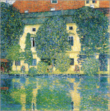 Akrylbillede  Schloss Kammer on the Attersee III - Gustav Klimt