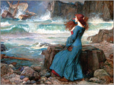 Akrylbillede  Miranda - The Tempest - John William Waterhouse