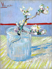 Akrylbillede  Sprig of Flowering Almond in a Glass - Vincent van Gogh