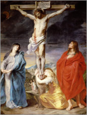 Lærredsbillede  Christ on the Cross with the Virgin, St. John and Mary Magd - Anthonis van Dyck