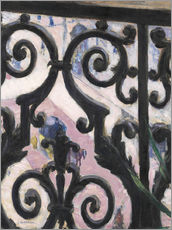 Selvklæbende plakat  View through balcony grill - Gustave Caillebotte