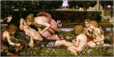 Selvklæbende plakat  The Awakening of Adonis - John William Waterhouse