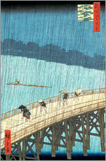 Galleritryk  Sudden Shower over Shin-Ohashi bridge and Atake - Utagawa Hiroshige