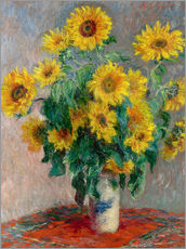 Selvklæbende plakat  Bouquet of Sunflowers - Claude Monet