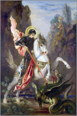 Galleritryk  St. George and the Dragon - Gustave Moreau