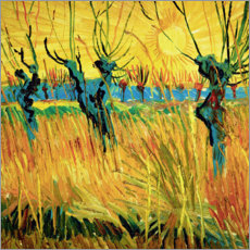 Lærredsbillede  Willows at sunset - Vincent van Gogh