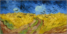 Print på træ  Wheatfield with crows - Vincent van Gogh