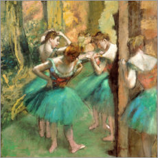Lærredsbillede  Dancers in Pink and Green - Edgar Degas