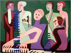 Galleritryk  Singer at the piano - Ernst Ludwig Kirchner
