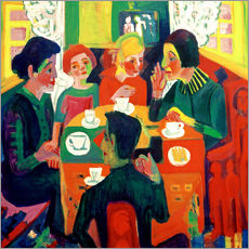 Selvklæbende plakat  Coffee table - Ernst Ludwig Kirchner