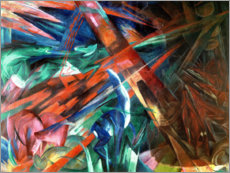 Akrylbillede  Animal fates (the trees showed their rings, the animals their veins) - Franz Marc