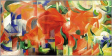 Premium-plakat  Playing forms - Franz Marc
