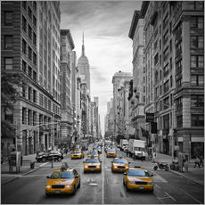 Selvklæbende plakat  NEW YORK CITY 5th Avenue Traffic - Melanie Viola