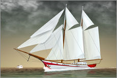 Galleritryk  Sailing boat, two-masted sailing boat - Kalle60